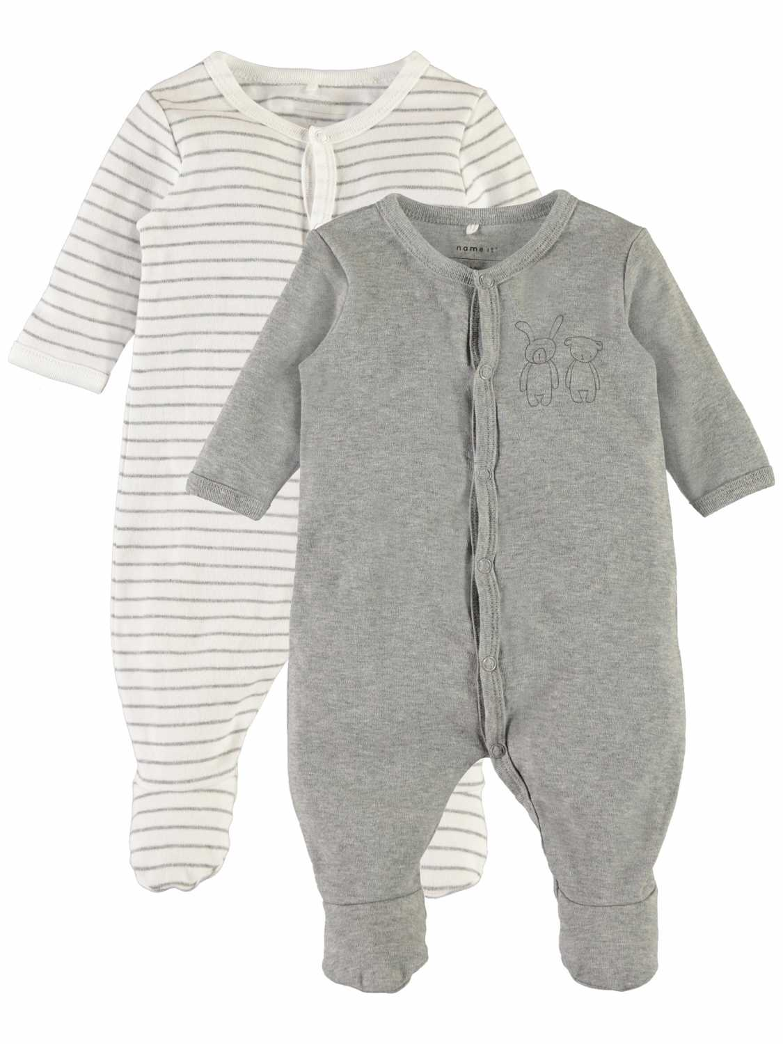 Name it 2- Pack Romper lange mouw